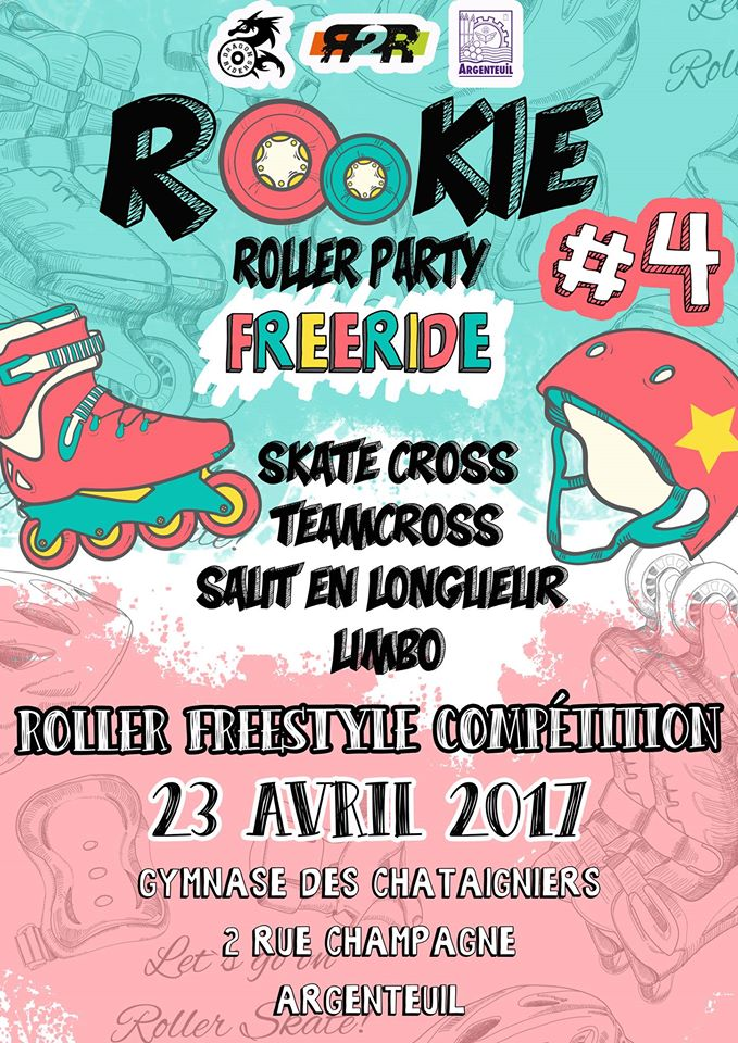 afiche roller rookie party 4 argenteuil 2017